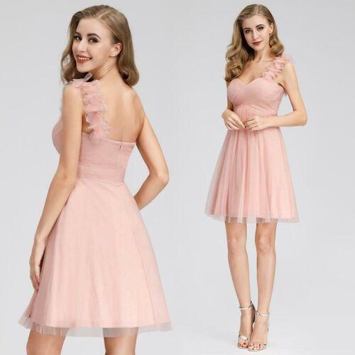 Ever-Pretty One Shoulder Prom Dress Short A-Line Chiffon Homecoming Dress 03093