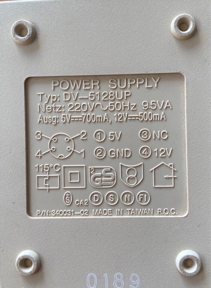Strømforsyning til Commodore 1541 II /1571 Ii/1581,