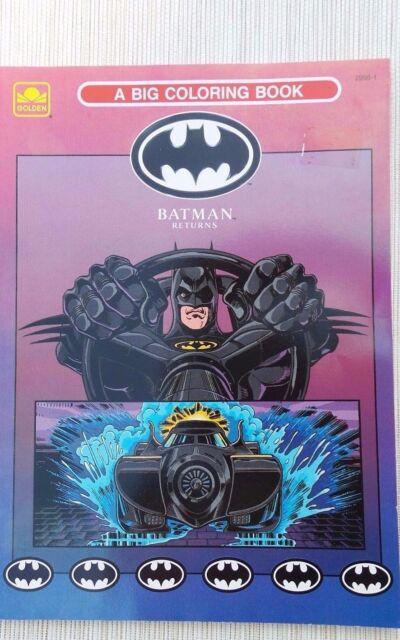 Batman Returns Golden A Big Coloring Book 1992 Ebay