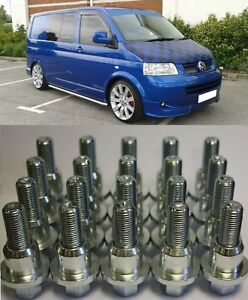 RANGE-ROVER-TO-VW-TRANSPORTER-T5-ALLOY-WHEEL-CONVERSION-KIT-20-BOLTS-4-RINGS