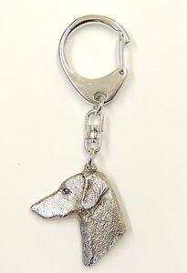 Doberman-Head-Silver-Keyring