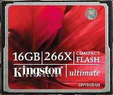 Kingston 16GB Ultimate Cf Compact Flash Card 266x Memory Card For Camera
