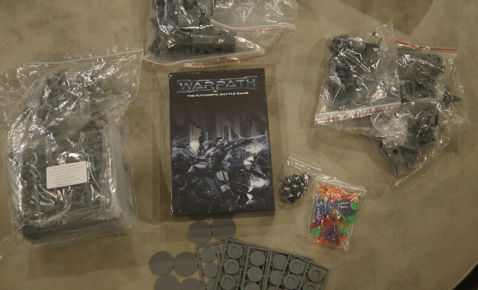 New Mantic Warpath Kickstarter Bundle  Books, Dice, Vehicles, Miniatures