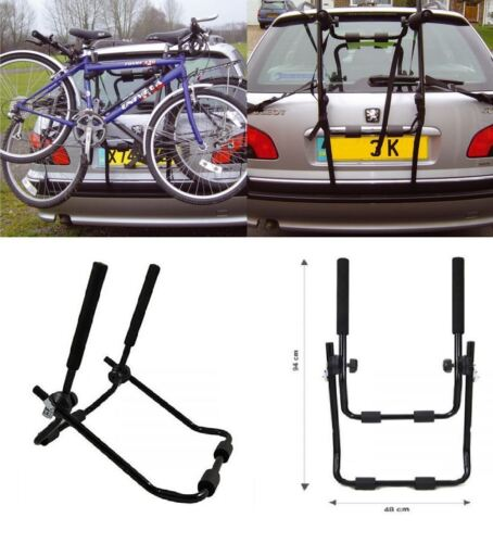 NEW UNIVERSAL 2 BICYCLE REAR MOUNT CARRIER CAR RACK BIKE CYCLE