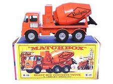Matchbox Lesney K-13a ERF Ready-Mix Concrete Truck (RARE UNPAINTED HUBS, VGC!)