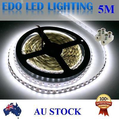 12V 5M 3528 600  Cool White DC 12V SMD LED Strips Led Strip Lights + Connector