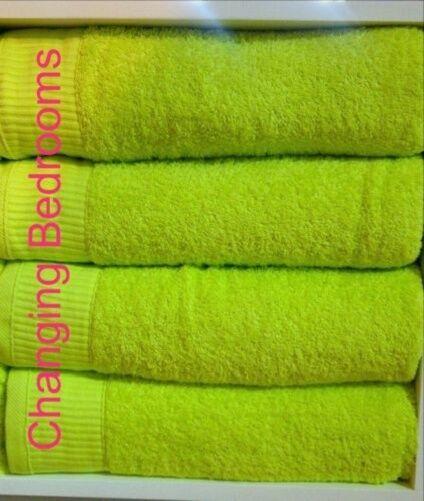 Bright Lime verde 500gsm 100% 100% 100% Cotone Egiziano 4 6 o 10 pezzi asciugamano Set 91d714