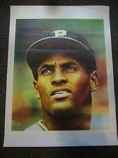 1960'S ROBERTO CLEMENTE PITTSBURGH PIRATES VINTAGE POSTER 19X25'' 2 SIDED