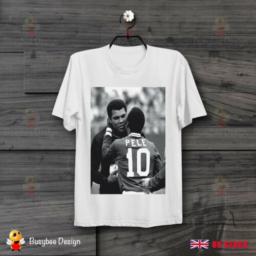 Pele And Muhammed Ali Clay Meet Football Boxer Vintage T Shirt B85