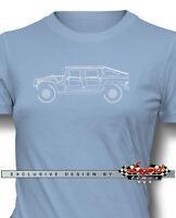 Hummer Humvee H1 Slantback Women T-shirt - Multiple Colors And Sizes