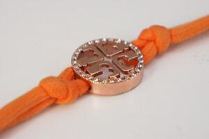 Auth-TORY-BURCH-Bangle-Bracelet-Orange-Logo-Free-Ship-682f14