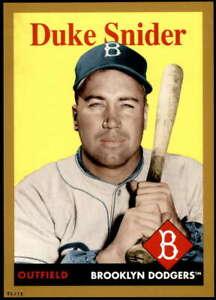 Duke Snider 2019 Topps Archives 5x7 Gold #20 /10 Dodgers