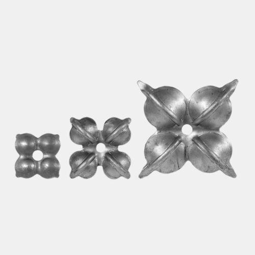 1430306 - Ø 45 mm 115 mm Rosetten Blumen 2 Stück Zierblumen 70 mm