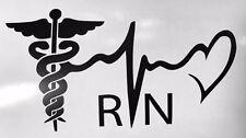 "5"" RN Registered Nurse Vinyl decal Sticker COLORS Heart Medic Car Window Bumper"