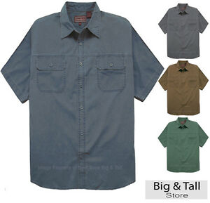 Big tall men 39 s casual adventure shirt by falcon bay 3xl for Mens 4xlt flannel shirts