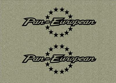 HONDA Motorrad Tank Aufkleber Sticker Decal ST 1300 Pan European 2 Stück -out-