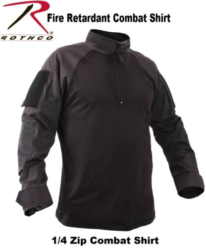 Black 1//4 Zip Military Fire Retardant NYCO Tactical Combat Shirt Rothco 99010