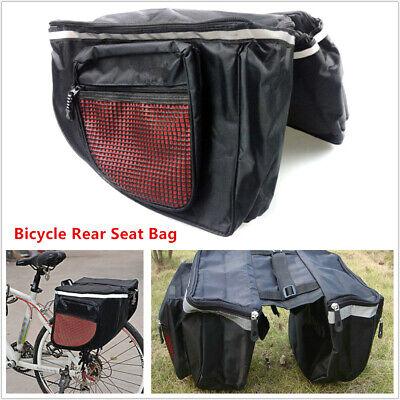 25L Bike Bicycle Cycling Storage Pannier Saddle Rack Seat Bag Shoulder Handbag