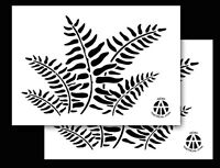 2pack Vinyl Airbrush Stencils 10 Mil Camouflage Duracoat 9x14 (fern Camo)