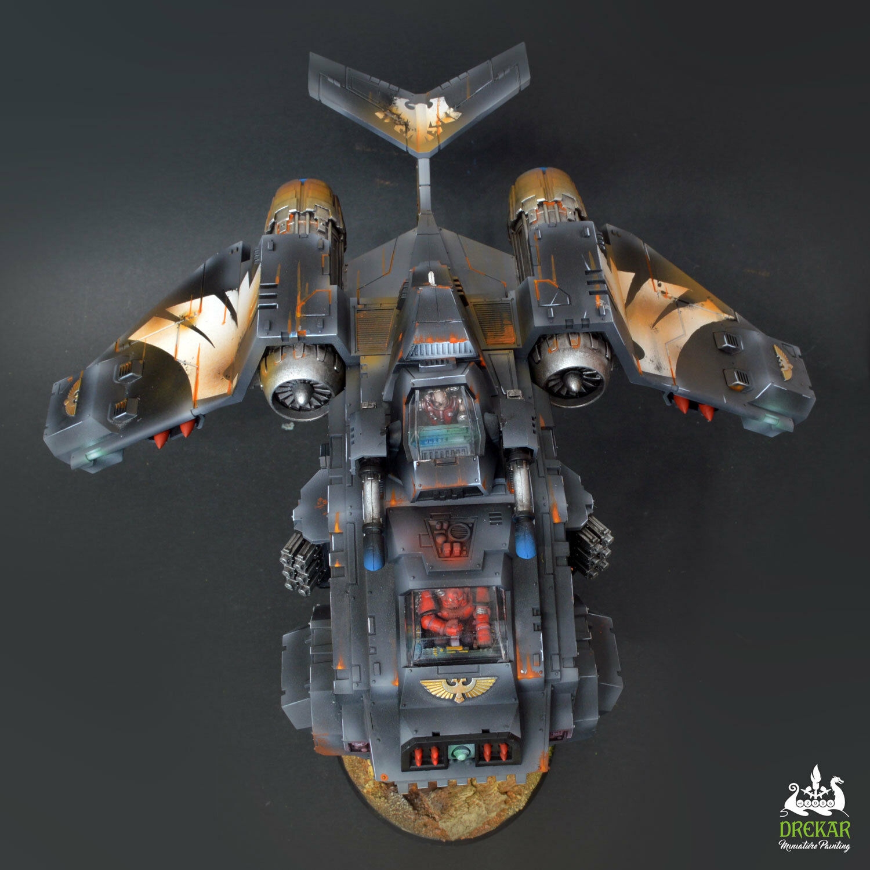 Cañonera stormraven Raven Guardia Warhammer 40K   Comisión Pintura