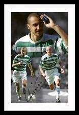 HENRIK LARSSON - CELTIC AUTOGRAPHED SIGNED & FRAMED PP POSTER PHOTO