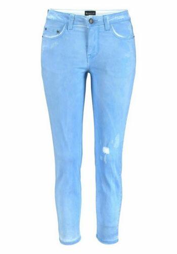 Laura Scott Damen 7//8 Destroyed Hose Jeans Chino Stretch hellblau 819335