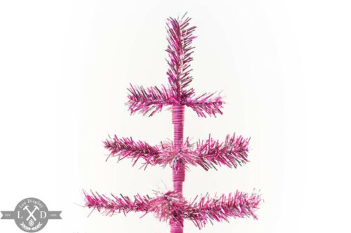 18/'/' Pink Barbie Tinsel Tree Valentine/'s Day Ornament 1.5FT Table-Top W// Stand