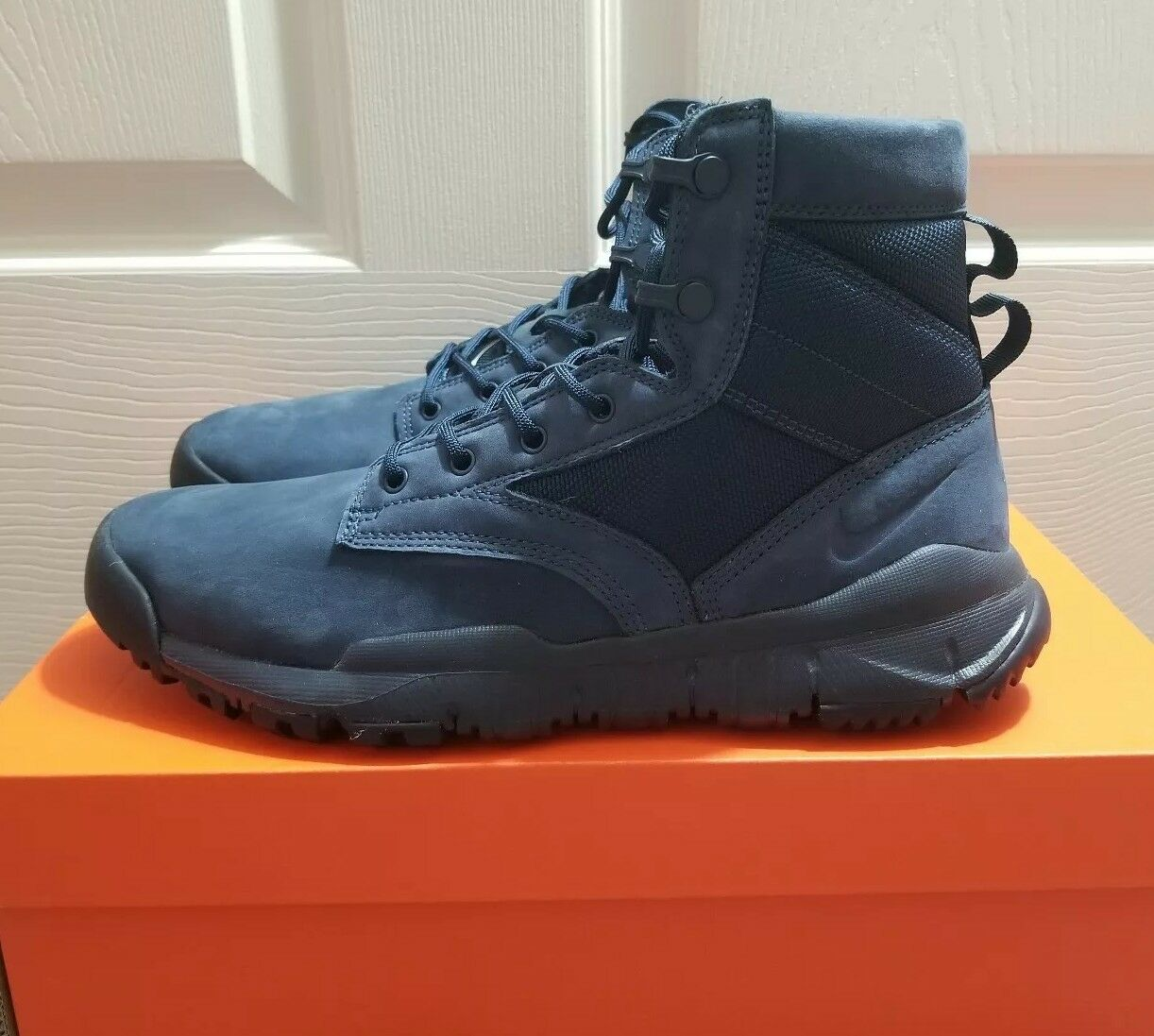 Nike Special Field Boot 6  Inches NSW Leather Navy Boots shoes Sz 9 (862507 401)