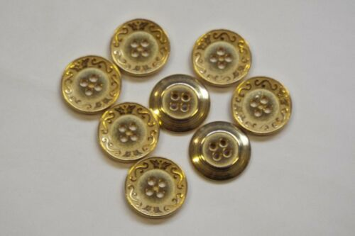 8pc 15mm matt or d/'acanthe inspiré metal blazer cardigan manteau bouton 3404