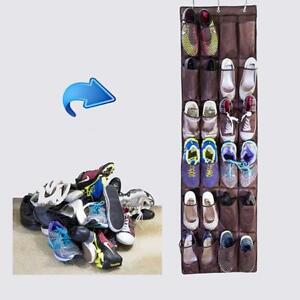 24-Pocket-Hanging-Shoe-Organiser-Rack-Hanger-Cabinet-Storage-Closet-Door-SG