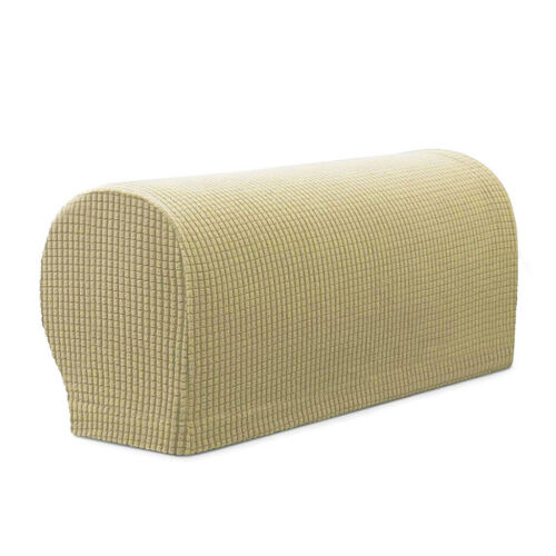 2pcs Sofa Armrest Covers Furniture Settee Couch Armchair Arm Slipcover Beige