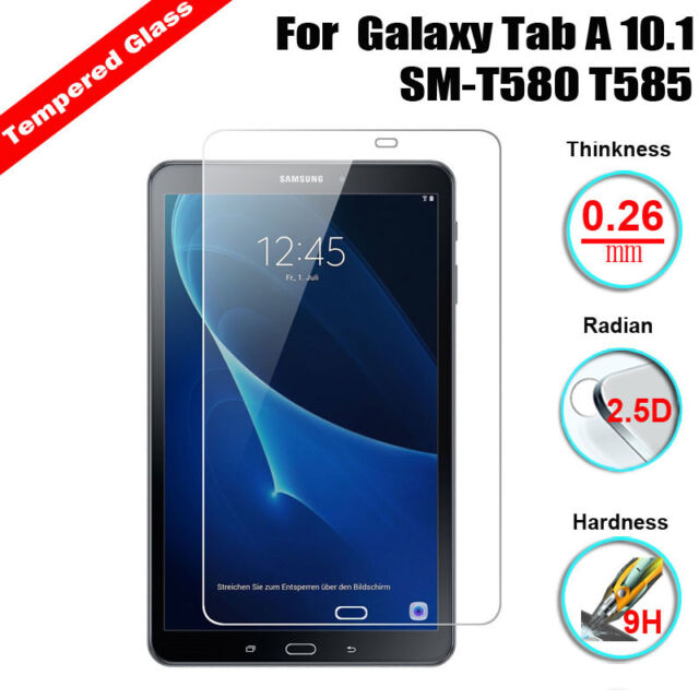 For Samsung Galaxy Tab A 10.1 T580/T585 HD Clear Tempered Glass Screen Protector