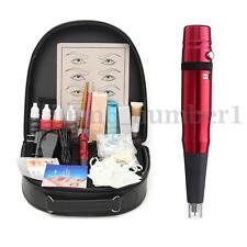 Pro Complete Tattoo Kit Eyebrow Permanent Makeup Tattoo Machine Pen Set Supplies