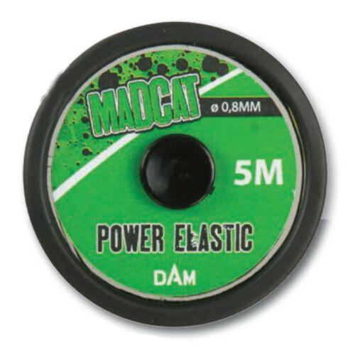 0,60€//m Madcat Power Elastic 0,8mm 5m Spule für Waller Bungee Rigs