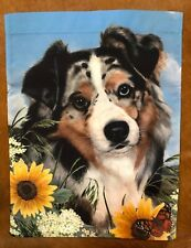 Two designs by Pipsqueak Australian Shepherd House Flags and Garden Flags