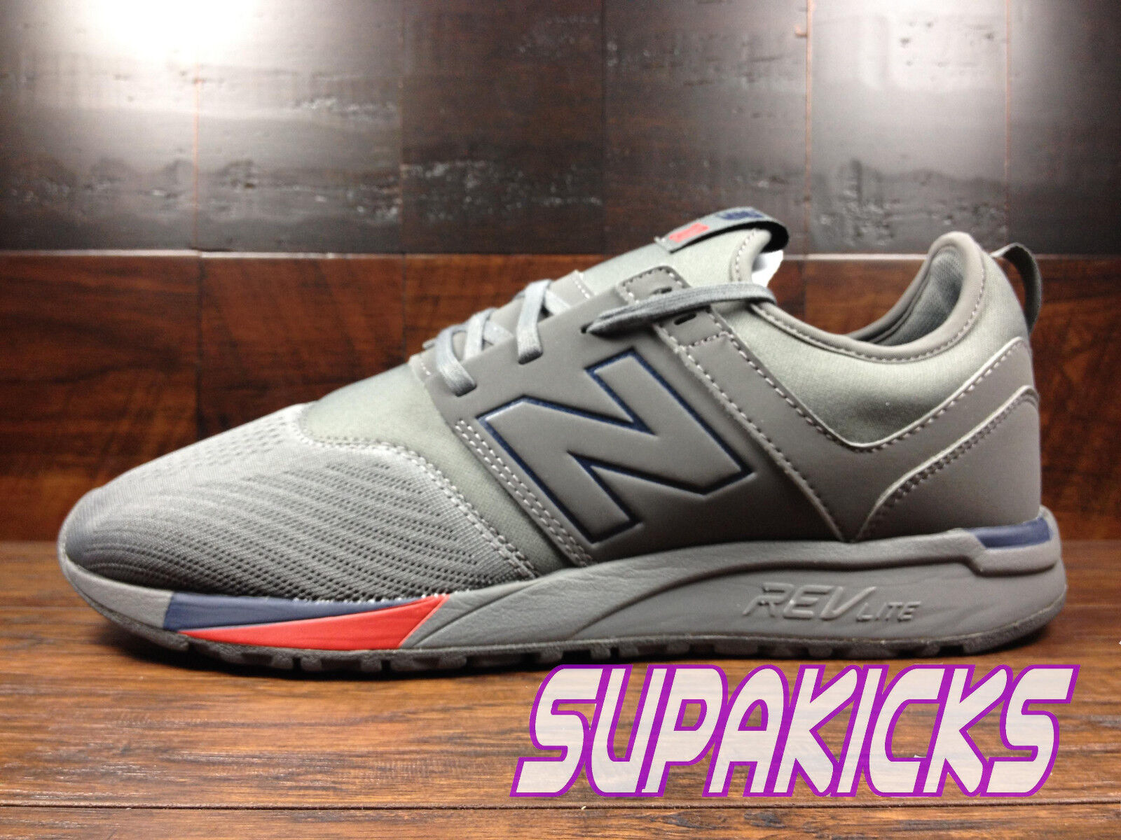NEW BALANCE MRL247GN  Classic 247  (Grey   Navy   Red) Mens Lifestyle Sz 8 - 13