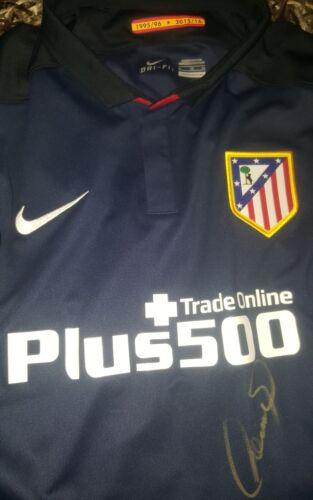 Fußball-Trikots von ausländischen Vereinen Fernando Torres Signed shirt Atletico de Madrid Griezmann No match worn proof