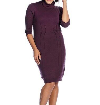 V. by Vanessa Williams Sweater Knit Elbow Sleeve Turtleneck Dress Plus Size  1X | eBay