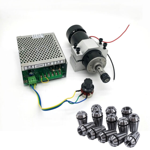ER11 Chuck DIY CNC 500W Air Cooling Spindle Motor + 52mm Clamps + Speed Governor