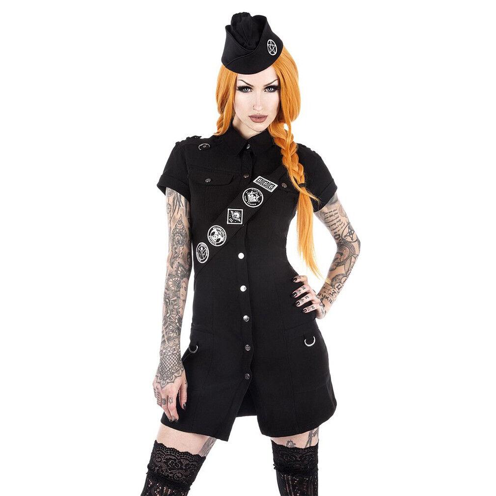 Killstar gothique goth occultisme Punk Mini-robe-TROOP leader Scout 90er Rétro