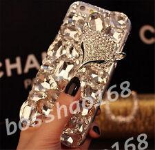 Handmade Bling Clear Crystal Diamond Soft TPU back thin Phone Case Cover Skin 13