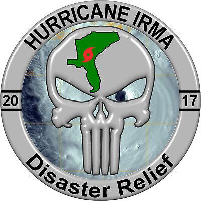 Car Truck windows Hurricane Irma Disaster Relief 2017 Sticker Decal Weather