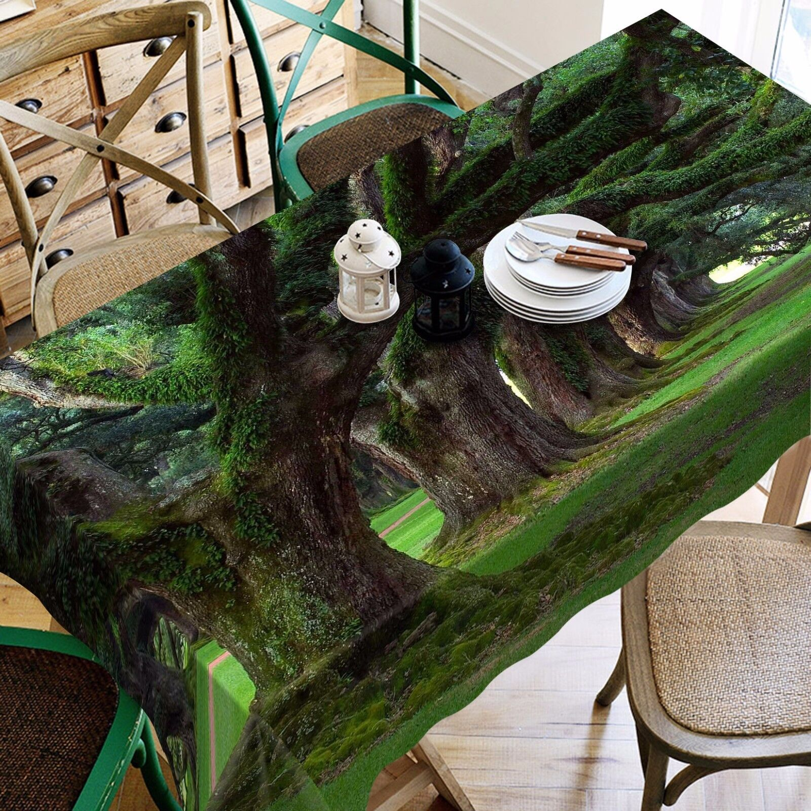 3D Trees 8812 Tablecloth Table Cover Cloth Birthday Party Event AJ WALLPAPER UK