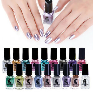 Metallic Nail Polish Magic Mirror Effect Chrome Polish ...