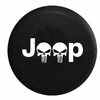 Jeep Punisher Skulls Spare Tire Cover Vinyl