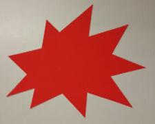 50 Sterne 100 x 120 mm rot Karton Werbesymbol Räumungsverkauf Preisschilder