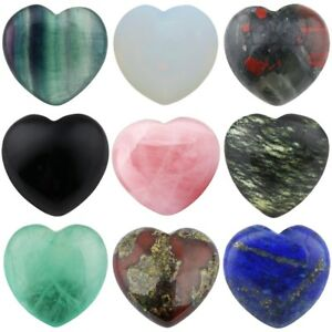 Natural-Crystal-Gems-Puff-Heart-Palm-Worry-Stone-Healing-Reiki-Love-Decor-0-8-039-039