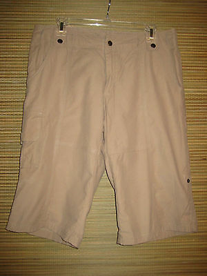 Brisas by Columbia Cargo Walking Bermuda Shorts Dark Beige Size 10