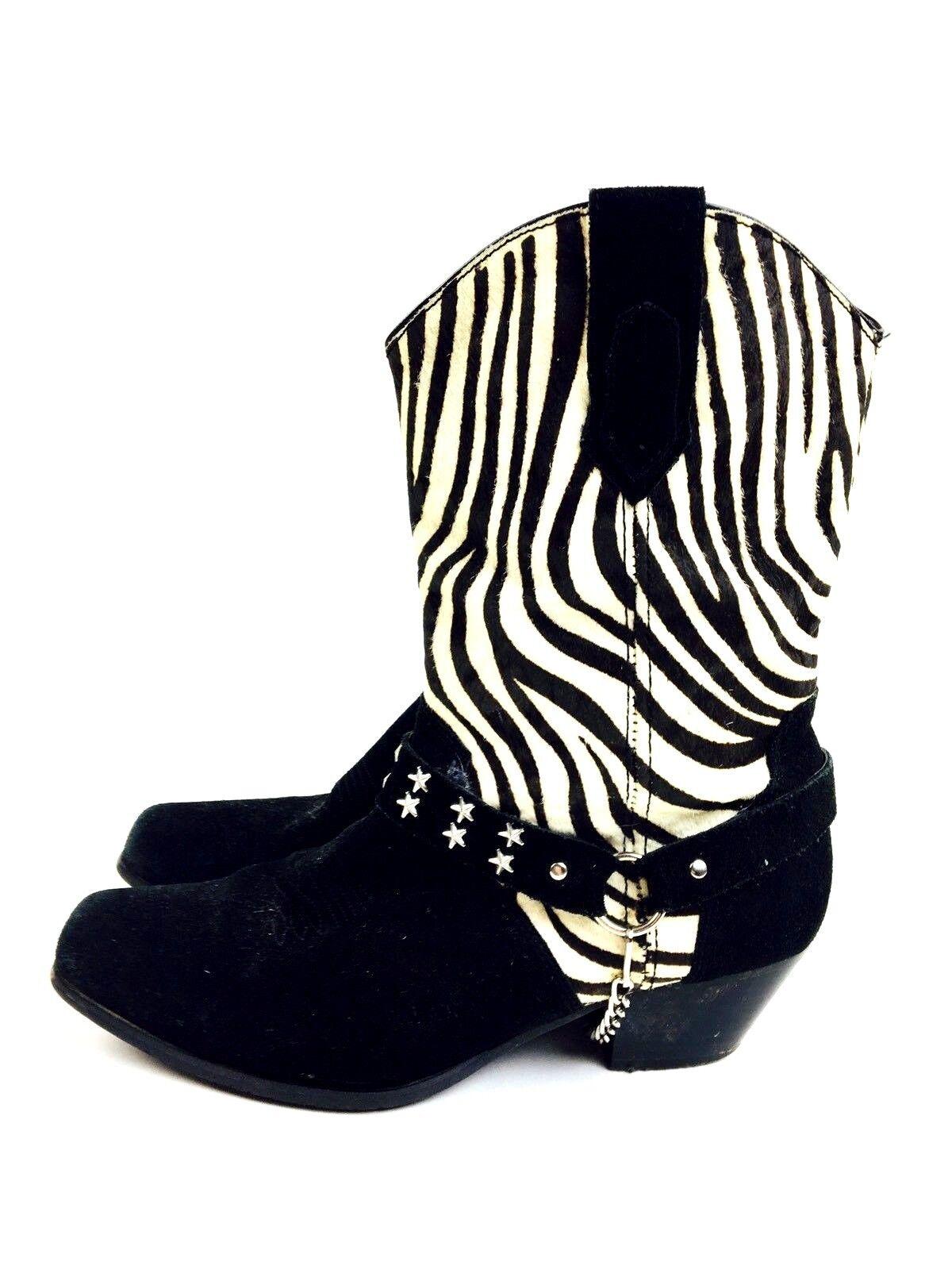 Zebra Cowboy Boots Women's Shoes Women's Boots He… - image 2