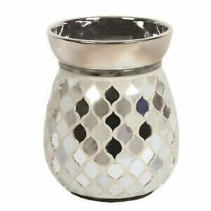 Pearl-and-Silver-Electric-Wax-Warmer-Burner-amp-10-Handpoured-Melts-3142